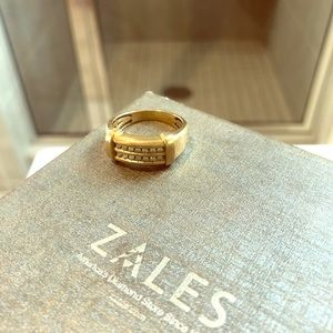 Men's 10K Gold diamond ring
